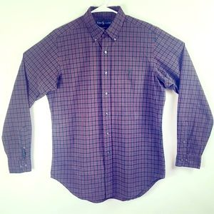 BROWN/BLACK LONG SLEEVE CASUAL BUTTON DOWN